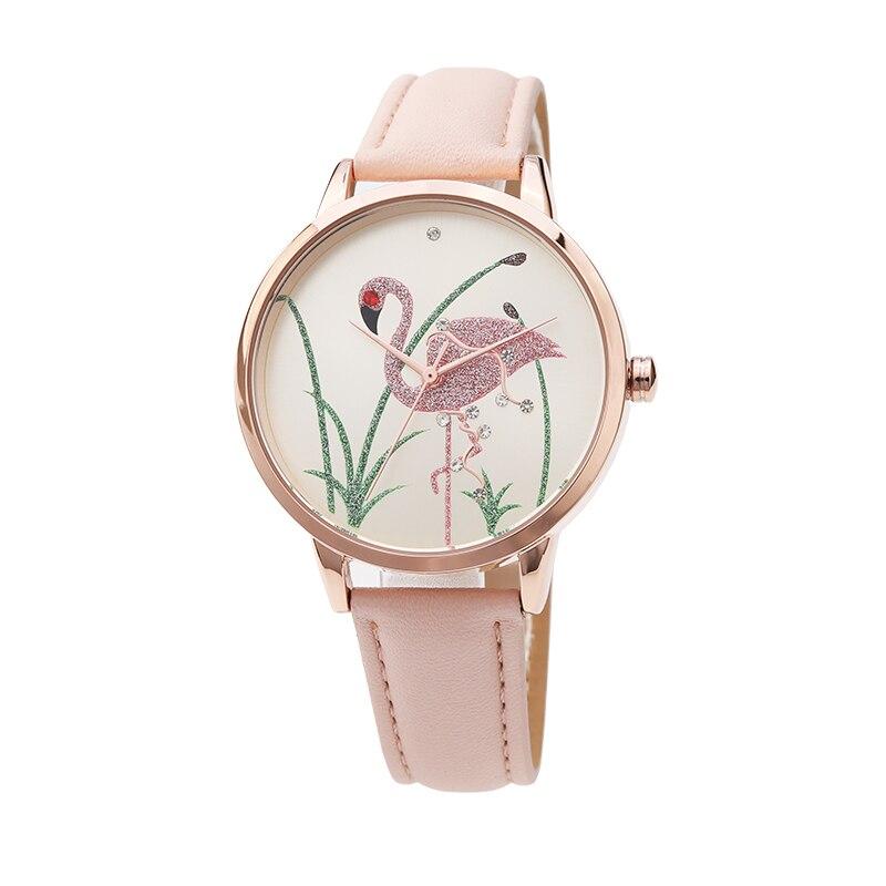 Reloj femenino para mujer con banda de tela Floral a rayas reloj Dial pulsera de cuarzo reloj de pulsera erkek kol saati Montre mujer 2018