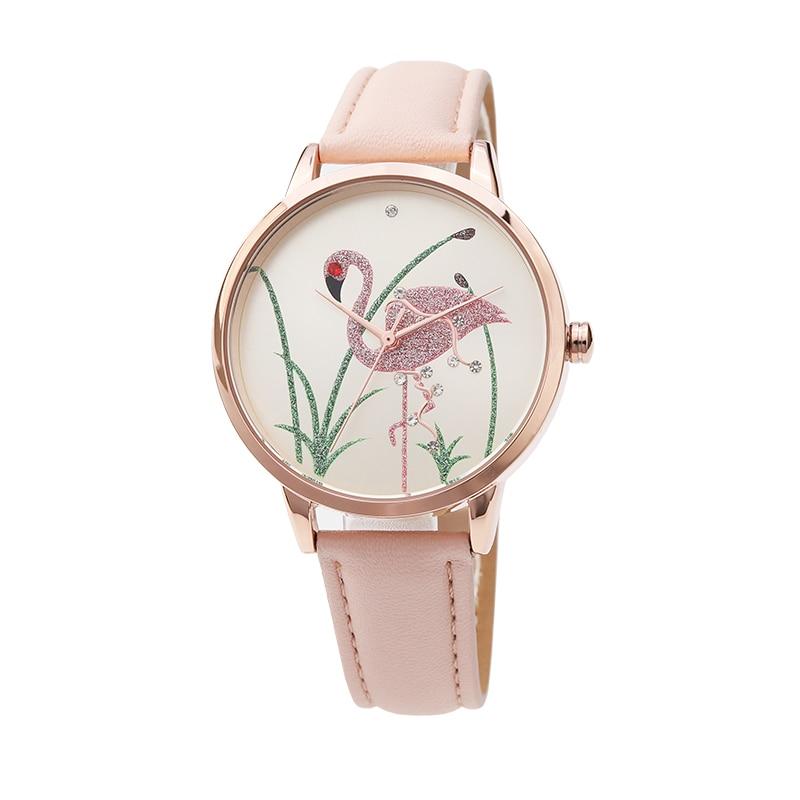 feminino women watches Stripe Floral Cloth Band Clock Dial Bracelet Quartz Wristwatch erkek kol saati Montre Femme 2018