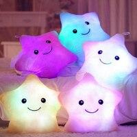 Luminous Pillow LED Kids Pillow Hot Colorful Stars Toy For Plush Mini