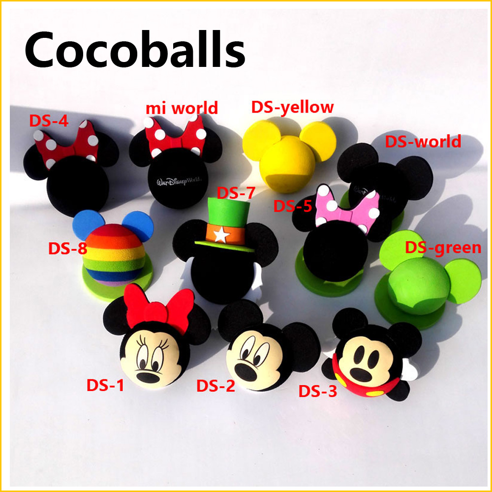 cocoballs brand Mickey Antenna Balls For Car roof Decoration Cute  Funny Cartoon Foam Lovely Exterior FPV Aerial topper partol black car roof rack cross bars roof luggage carrier cargo boxes bike rack 45kg 100lbs for honda pilot 2013 2014 2015