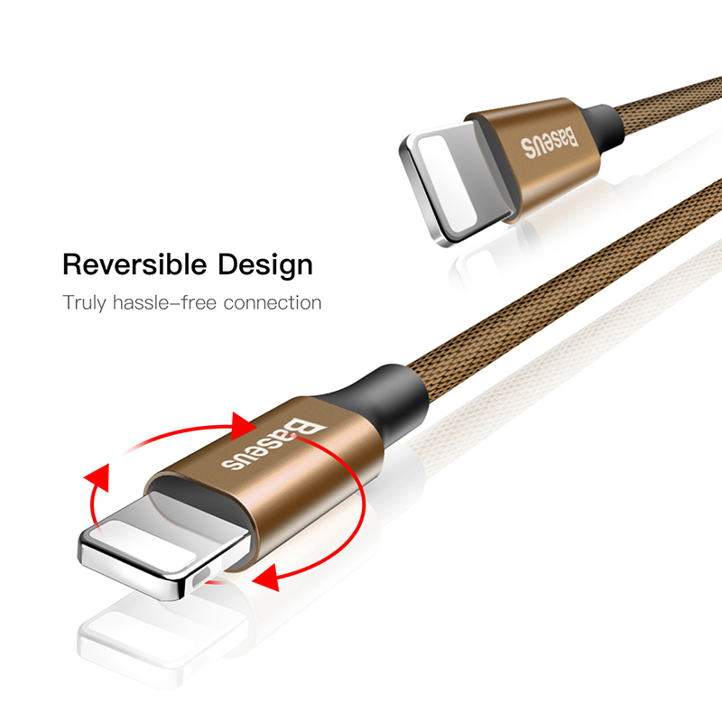 Baseus USB cable for iPhone 6 6s plus 7 plus 8 plus X 2A Fast Data Sync charging for lightning cable fast charger charging cable in Mobile Phone Cables from Cellphones Telecommunications