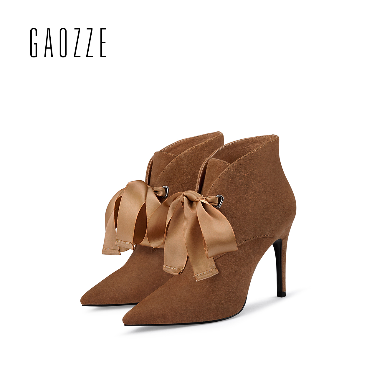 Sheep suede leather ankle boots for women pointed toe sexy thin high-heeled women shoes Butterfly Knot high-heeled boots 2017 цена