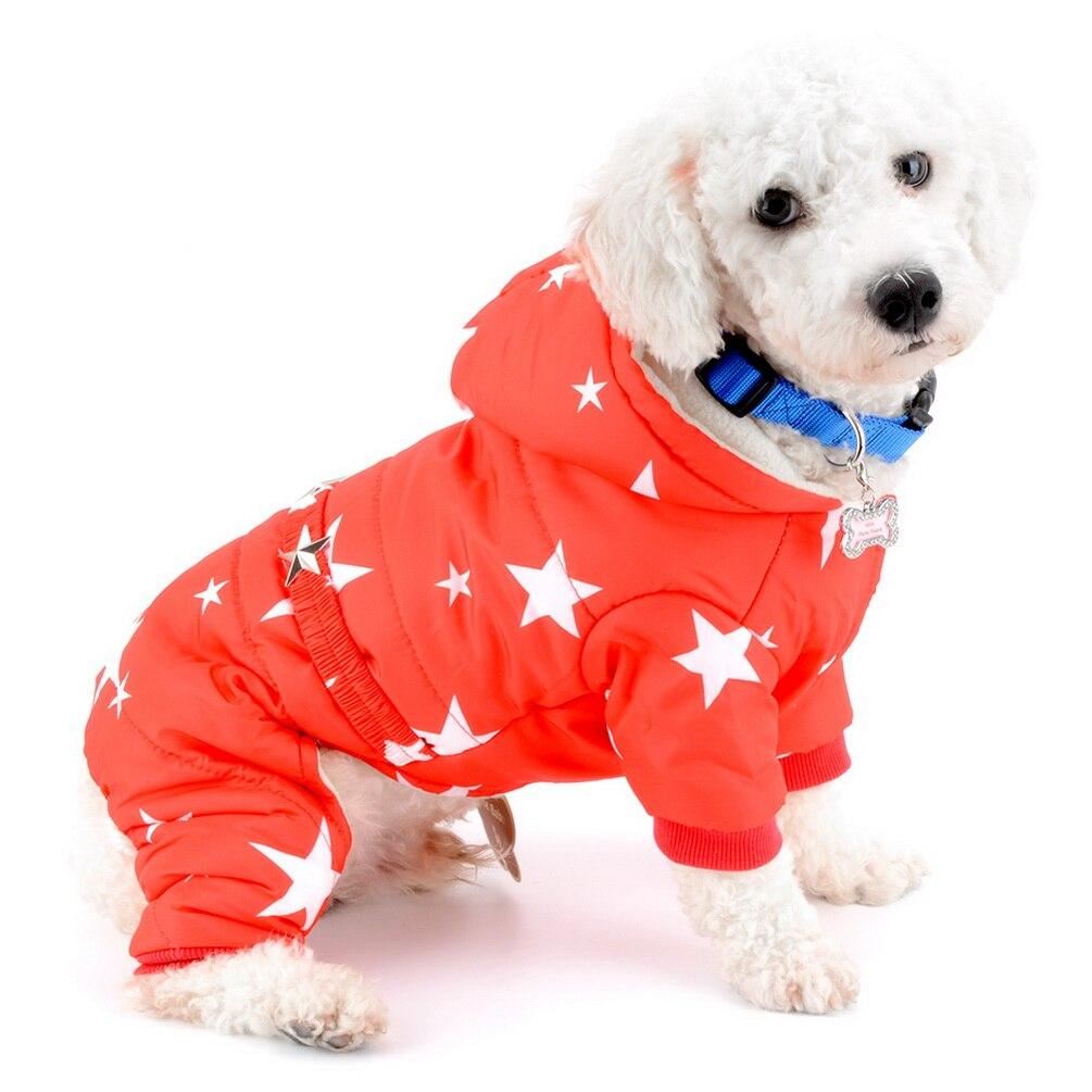 Pet Star Pattern Winter Coats Waterproof Dog Snowsuit