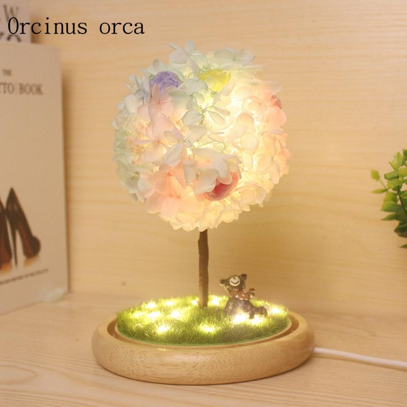 Creative Romantic Wishing Tree Lamp To Send Girlfriends Birthday Gift, Valentine's Day, Eternal Flower Ball Night Lamp Superior Materials