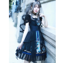 Goth Lolita  Jsk Halloween Cosplay Sweet Gothic Medieval Christmas Dress Tea Party