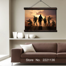 Sunset Soldiers  HD Print Scroll Paintings Wall Art Printed Hanging Framed Canvas Painting Modern Home Decoration цена