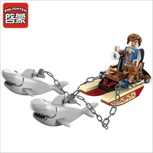 DIY Building Blocks Toy 45pcs/set Pirate Sharks Contingent Construction Bricks Children Educational Puzzle Toy Gifts