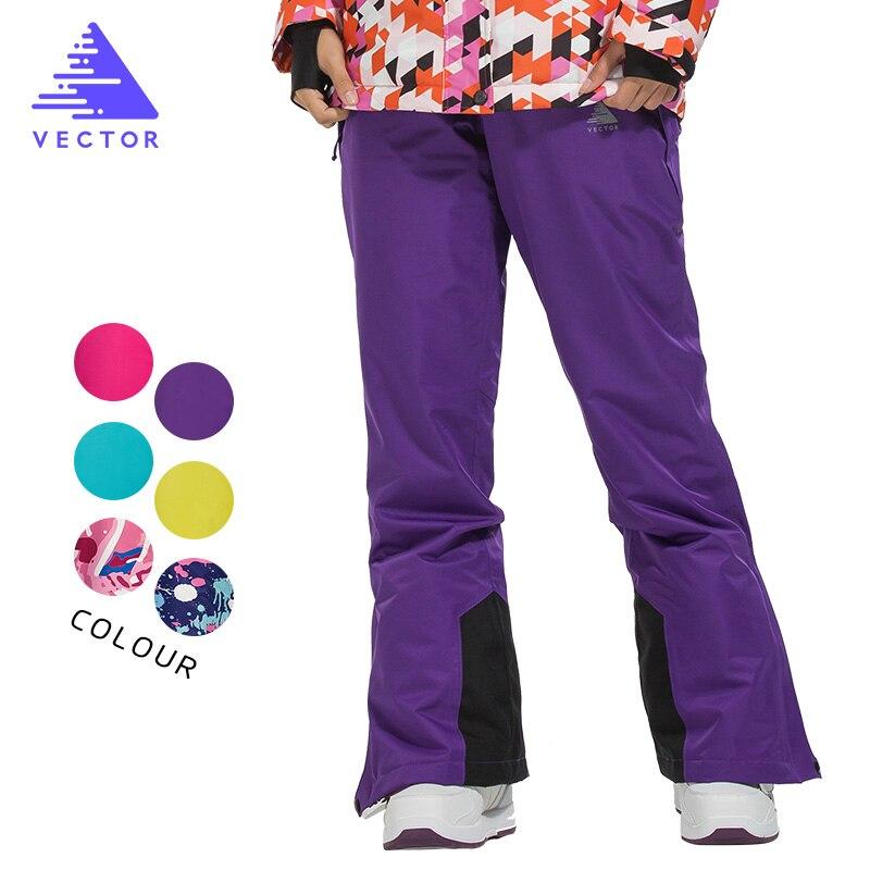 VECTOR femmes Ski pantalon imperméable neige pantalon plein air Sports d'hiver chaud Snowboard pantalon femme hiver Ski pantalon HXF70016 - 4
