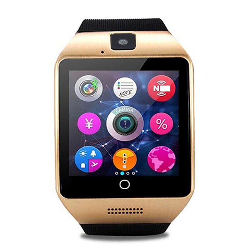 Moda reloj deportivo Q18 Bluetooth Smart Watch apoyo SIM/TF Tarjeta de la Cámara Android reloj inteligente PK A1 dz09