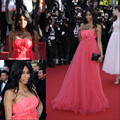 Mia Frye Celebrity Hot Red Carpet Cannes Dresses Custom Made Evening Dresses