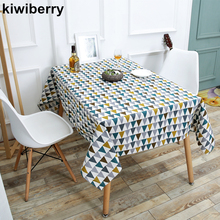 Triangle Printed Patterns Table Cloth Cotton Linen Dining Decorated  Mediterranean Style Can Wash The Tablecloth
