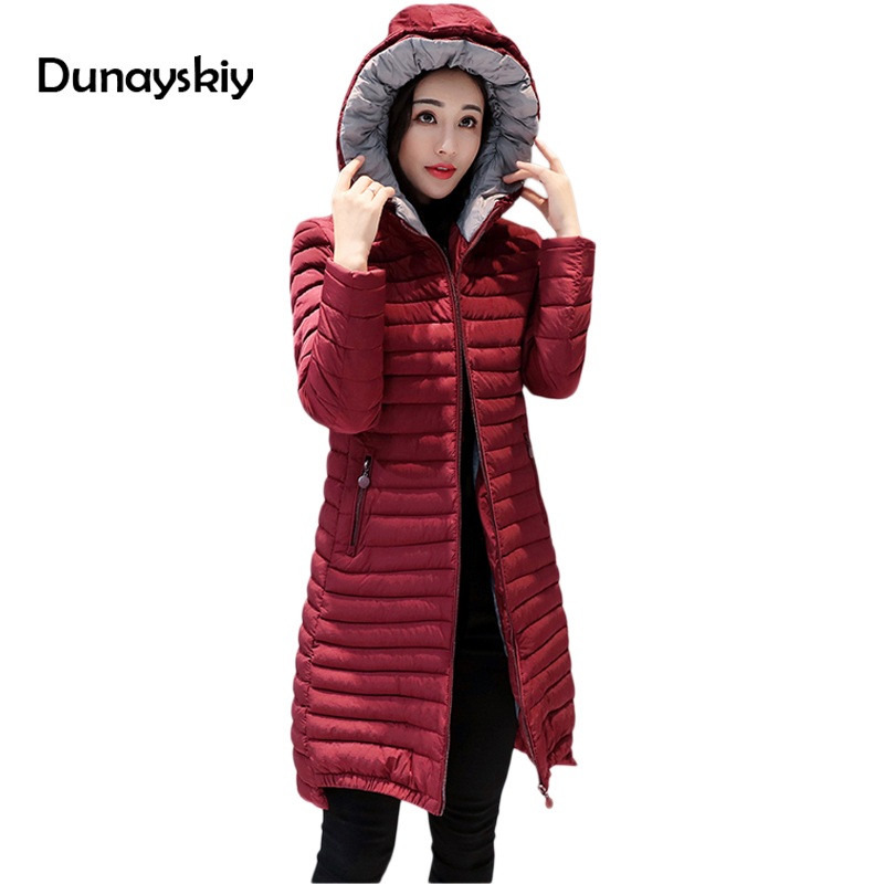 Wadded Winter Jacket Women Cotton Long Jacket 2017 Slim Padded Coat Outwear High Quality Warm Chaquetas Parka Big Size Dunayskiy чемодан ikea ikea 702 411 43 ikea