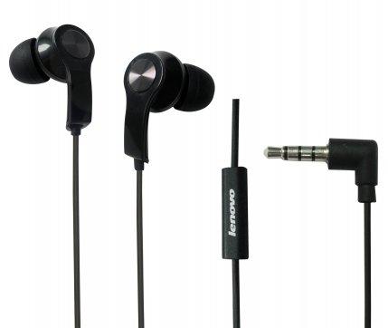 Lenovo Headset P180 (Black) 3.5mm Half in Ear Headphone with Microphone