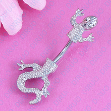 Lizard Style Belly Button Ring  Body Piercing Jewelry Navel Piercing 316L Stainless steel