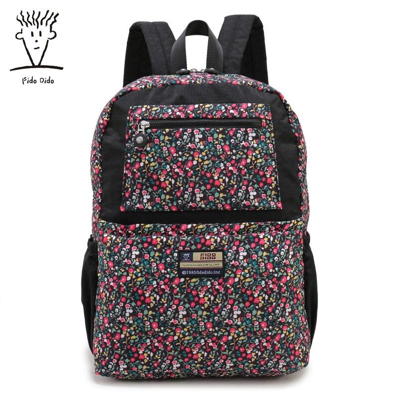 Fido Dido Oxford Women Backpack Fashion Camouflage Printing Backpacks for Girls Schoolbag Laptop Backpack Female Bag Kanken!! fido