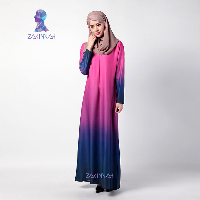 Nuevo Vestido de Musulmán Abayas Dubai Kaftan Manga Larga hermosa ropa islámica para las mujeres abaya