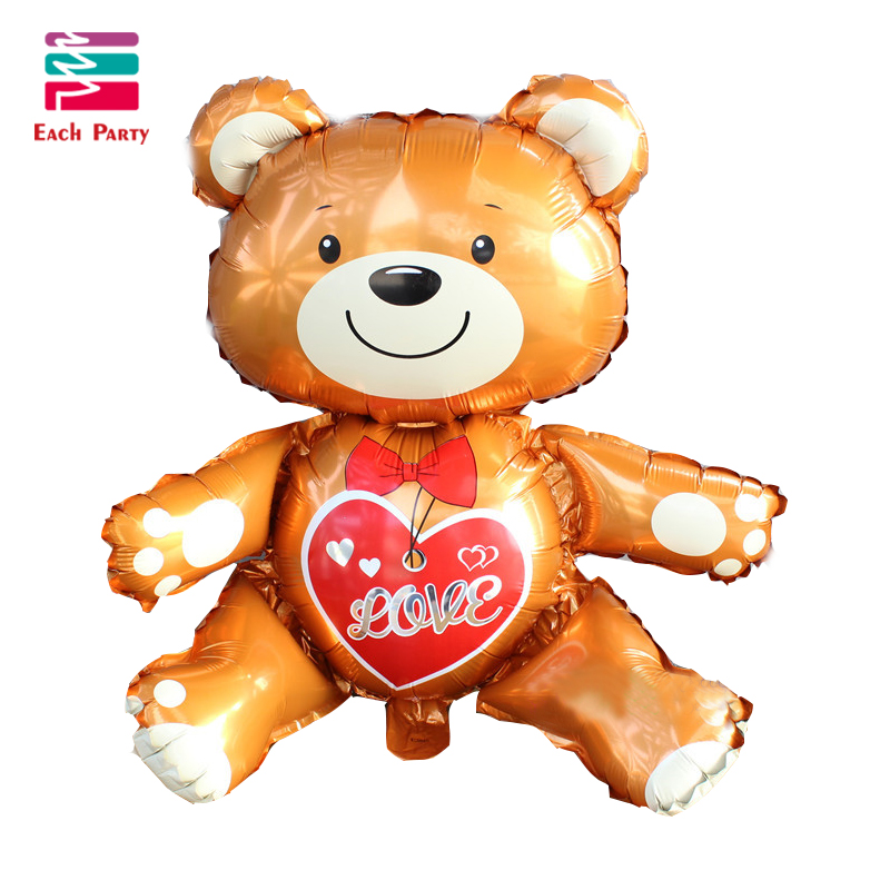 Large 3D Love Bear foil balloons Wedding decorations helium balloon birthday bal