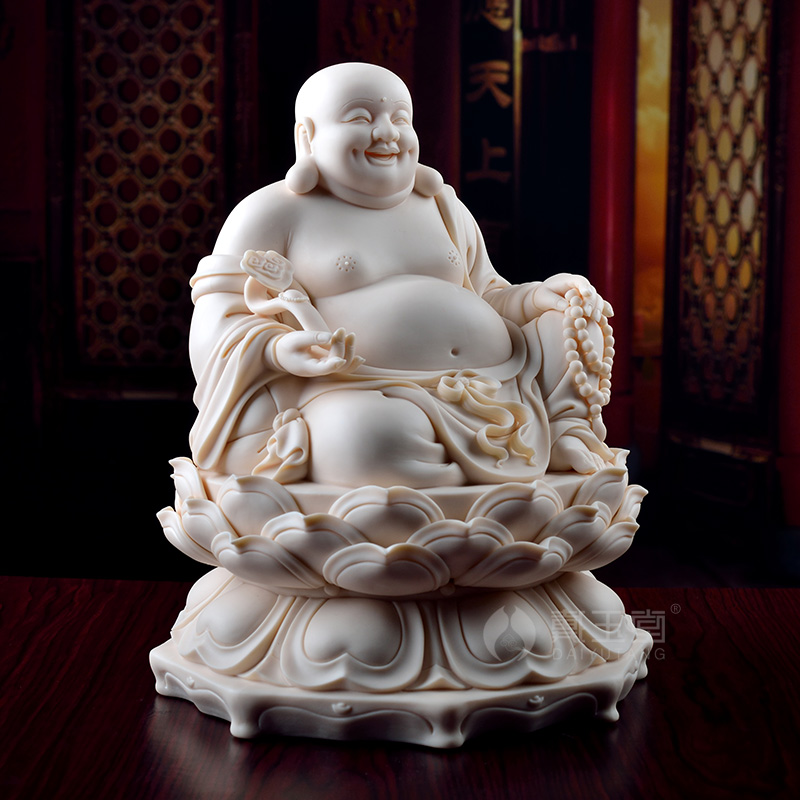 Dai Yutang Dehua ceramic sculpture handicraft laugh Buddha jade red porcelain ornaments/sitting Maitreya D01-030