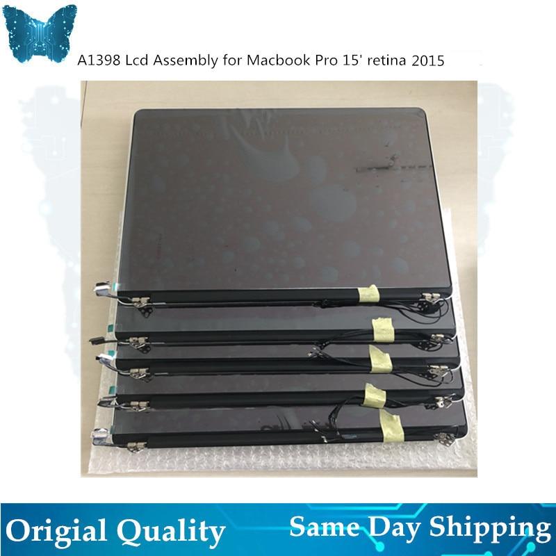 Подлинная Новый A1398 ЖК дисплей Экран в сборе для Macbook pro retina 15' сенсорный экран Полный ЖК дисплей Панель Дисплей 2015 EMC2909 EMC2910 MJLQ2 MJLT2