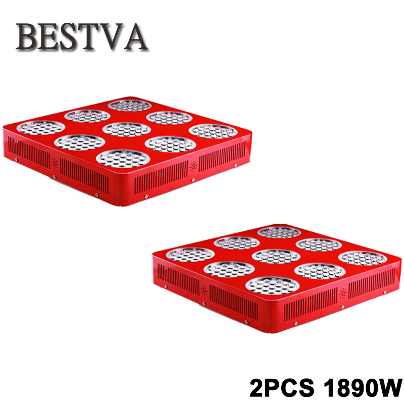 2PCS/lot DOUBLE-CHIPS 1890W full spectrum led Grow Light lamp panel for indoor greenhouse plants led grow light lamps hydroponic 2pcs lot 216 0774007 computer chips new