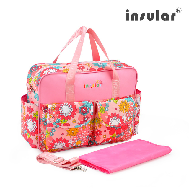 Insular For Baby Stroller With Zipper Nappy Bag Fashion Mummy Maternity Baby Nappy Bags Diaper Bag Mother Shoulder Bag Organizer