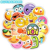 20 PCS Emoji Sticker Emoticon Cute Face Screaming in Fear Cartoon Decals Sticker Toys for Children DIY Laptop Fridge Guitar Car
