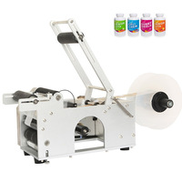 YTK Semi automatic Round Bottle Labeler Labeling machine