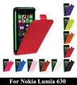 N630 telefone bag top quality retro crazy horse capa de couro fivela magnética vertical flip capa para nokia lumia 630