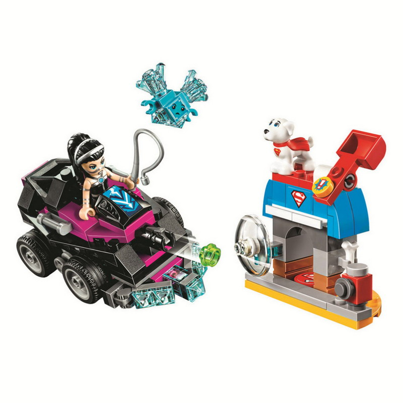 10613 BELA DC Super Hero Girls Lashina Tank Model Building Blocks Classic Enlighten Figure Toys For Children Compatible Legoe 10639 bela city explorers volcano crawler model building blocks classic enlighten diy figure toys for children compatible legoe