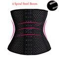 4 Steel Boned Women Slimming Cheap Body Shaper Bustier Belt Waist Shaper Corsets Cincher Black Breathable Shapewear 3 Hooks