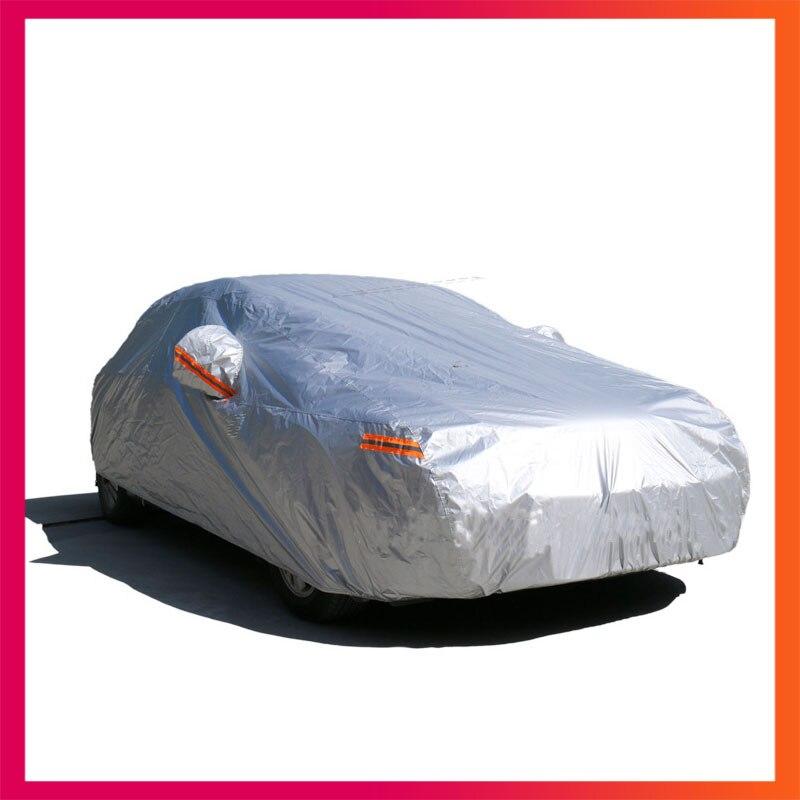 Voiture couvre pour voiture étanche couverture de voiture solaire auto couvre pluie étanche neige Uv protectiondust-preuve Unique couche fulls