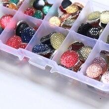 10-14MM 200Pcs/Set Mix Colors Round Shape Flat Back Resin Acrylic Jewellery Finding Jewelry Bead