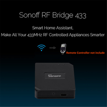 Sonoff RF Bridge WiFi 433MHz Replacement Home Automation Module Universal Switch Intelligent Domotica Wi-Fi Remote RF Controller