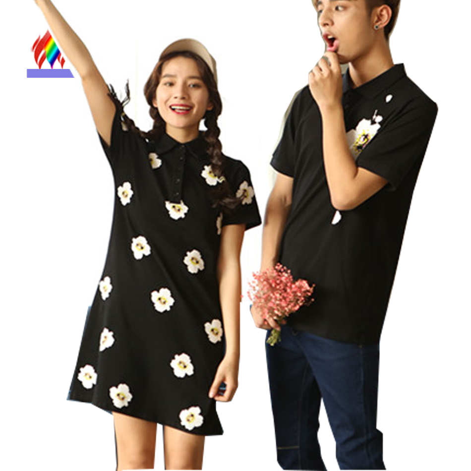 Black dress korean - Korean Floral Black Dress