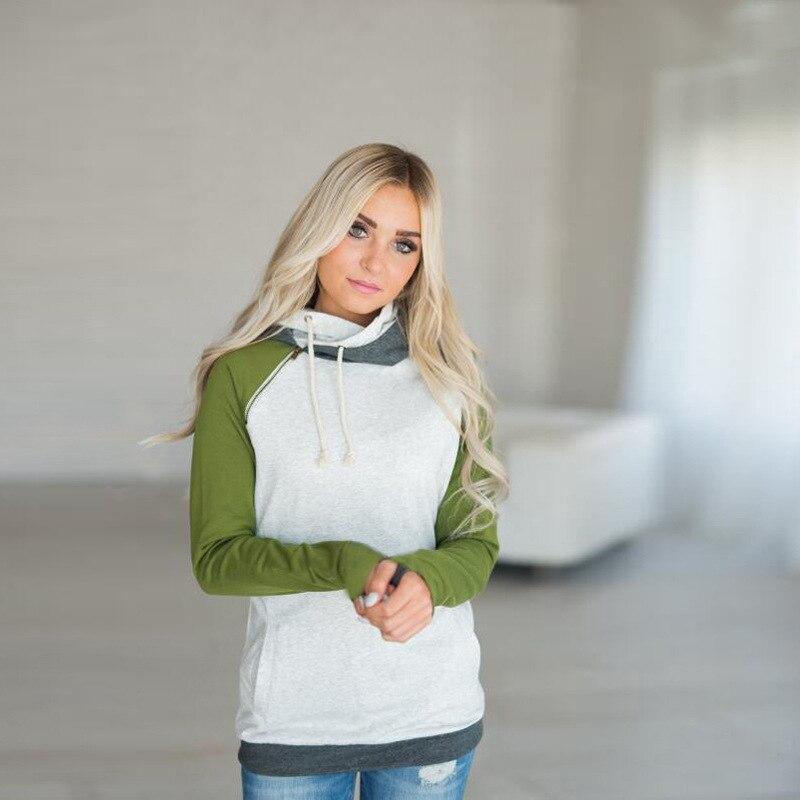 elsvios 2017 double hood hoodies sweatshirt women autumn long sleeve side zipper hooded casual patchwork hoodies pullover femme ELSVIOS 2017  hoodies, Autumn Long Sleeve HTB1Z8zbe3MPMeJjy1Xcq6xpppXaV