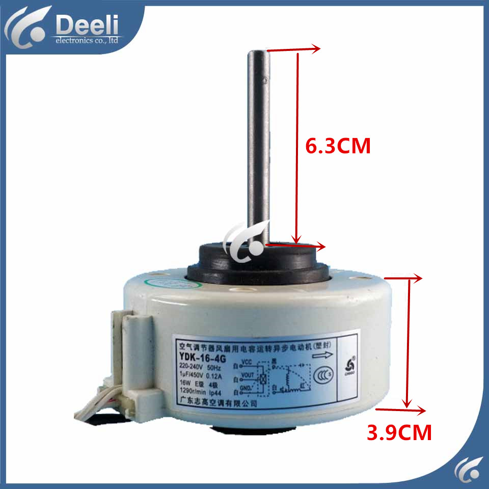 new good working for Air conditioner inner machine motor YDK-16-4G Motor fan 95% new original for midea air conditioning fan motor ydk36 4c a ydk36 4g 8 4g 8 36w direction of departure