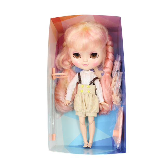 ICY Neo Blythe Doll Full Combo Box Pink Hair Azone Jointed Body