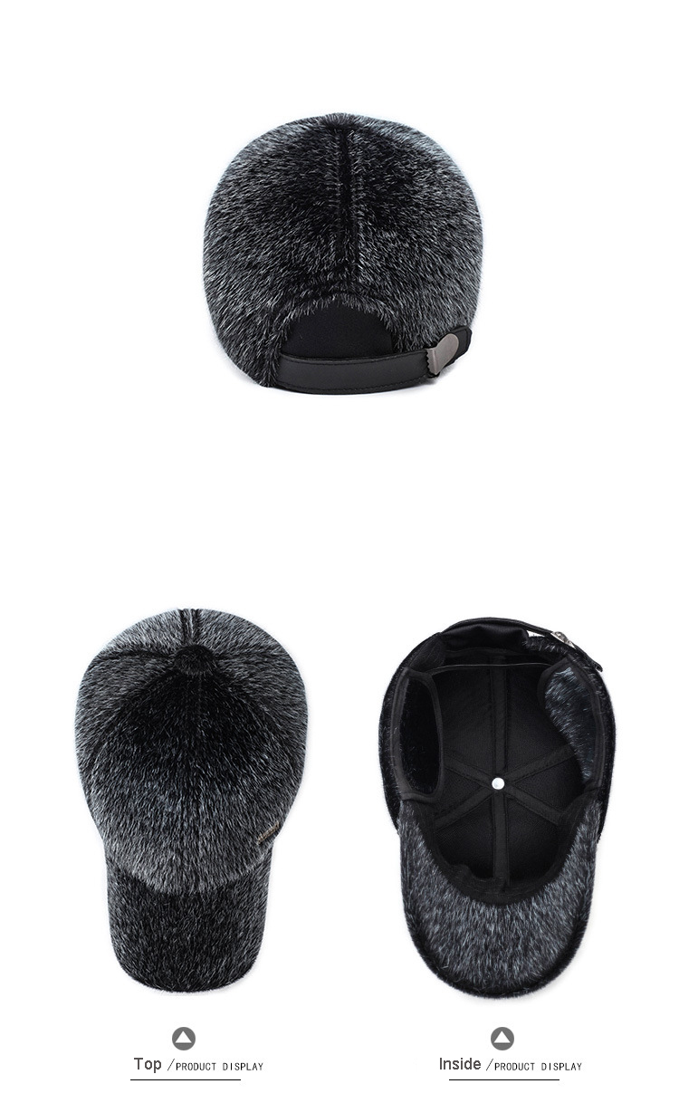 17 Winter Men's Warm Baseball Caps with Ear Flaps in Cold Weather Families Dad's Warm Hats Father's Best Gifts Keep Warm Hats 6