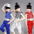 Hot Sale Kids Dancewear Set Boys Girls Sequined Stage Performance Costume Mordern Jazz Hip Hop Dance Wear Top & Pants