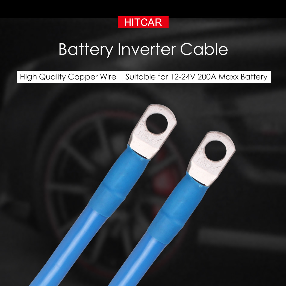 2WG Lug Ring Negative Positive Power Parallel Series Connection Terminal Copper Wire Battery Inverter Cables for Solar RV Car in Cables Adapters Sockets from Automobiles Motorcycles