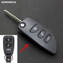 Auronnova новое обновление складной ключ оболочки для Kia Cerato 3+ 1 задние кнопки чехол для дистанционного ключа от машины DIY с нерезанным лезвием