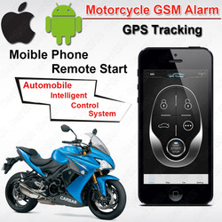 IOS Android Waterproof Motorcycle Motor GSM GPS Tracking Alarm Keyless Entry System Fence Overspeed SMS Shock ACC trigger Alarm