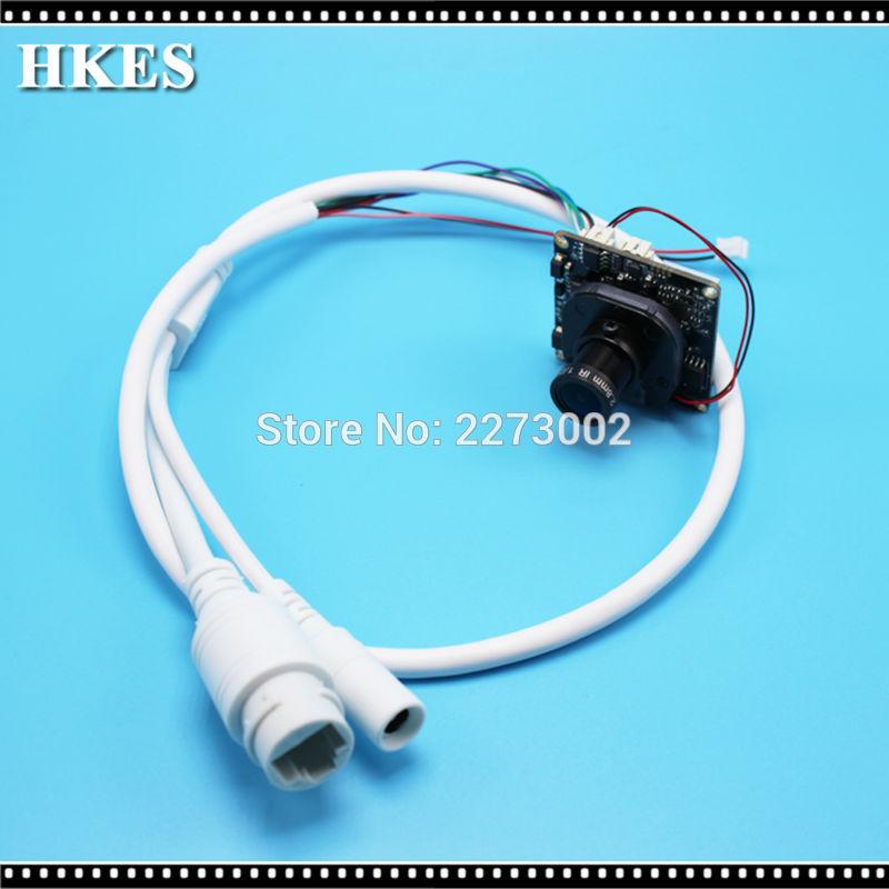 HKES HD CCTV 2.0MP low illumination 1080P Network IP Camera Module PCB board, 2.8mm 3mp lens