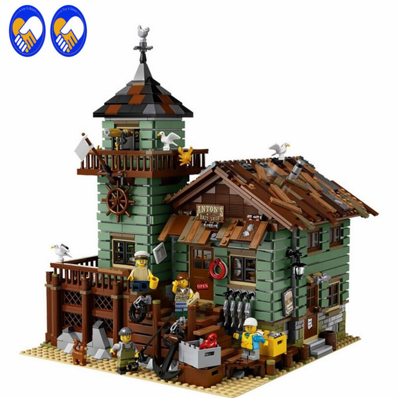 A Toy A Dream Lepin 16050 2109Pcs MOC Series The Old Finishing Store Set Children Educational Building Blocks Bricks Toys Model a toy a dream lepin 24027 city series 3 in 1 building series american style house villa building blocks 4956 brick toys
