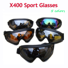 X400 UVA UVB Protection Sunglasses Men Outdoor Sport Windproof Glasses Ski Snowboard Goggles Hiking Motorcycle Cycling