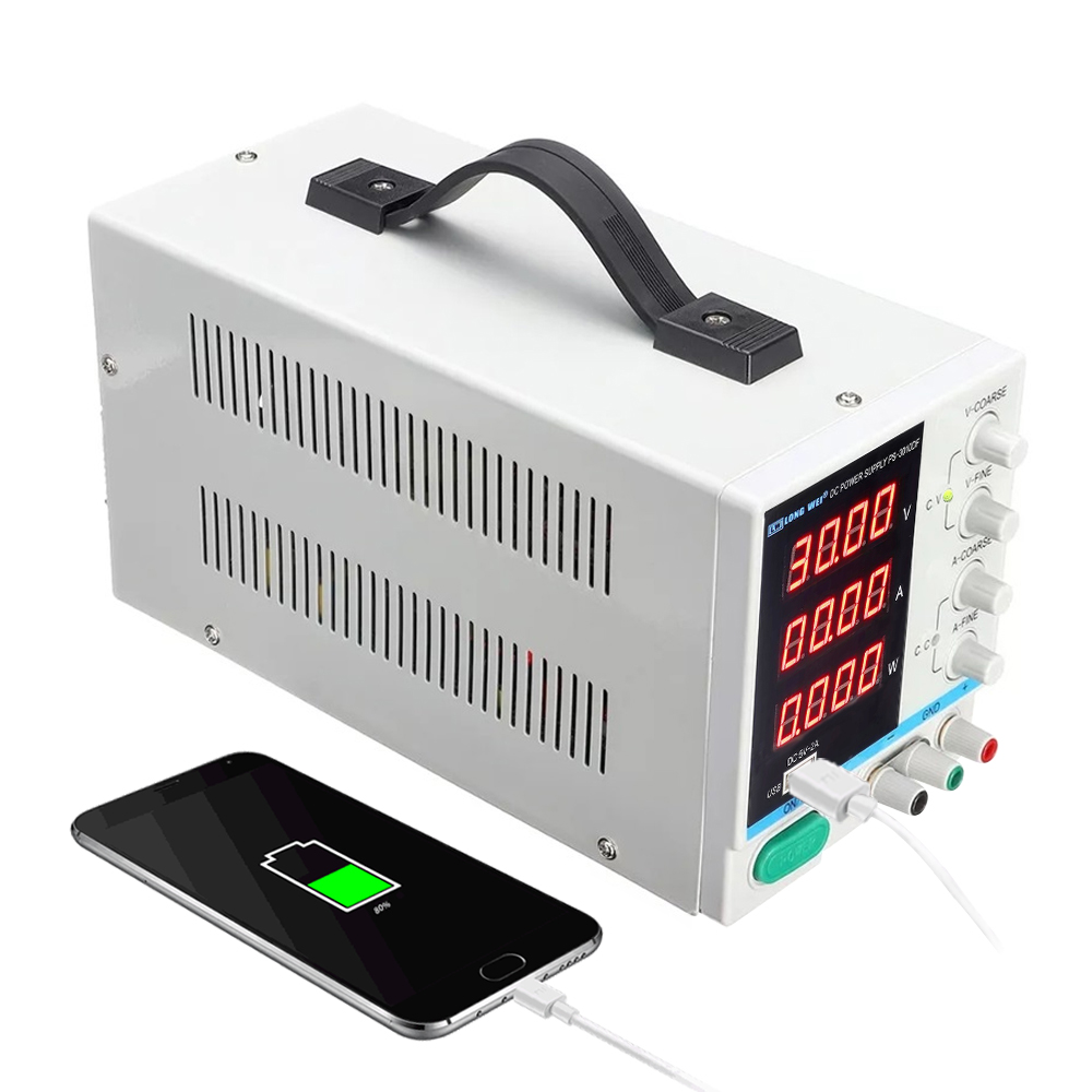 Image 5 - New LW  PS 3010DF laboratory DC power supply 30V10A high precision4 digit LED display USB charging repair switching power supply-in Switching Power Supply from Home Improvement