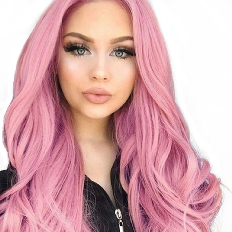 Element 26 Inch Long Synthetic Wig Fashion DIY Natural Wave Wigs For Women Middle Part Heat Resistant Cosplay Wig 5 Colors(China)