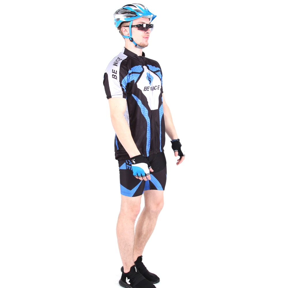 2016 Benice brand Cool Unisex blue color Cycling Wear Short jersey Bicycle Bike Jersey Cycling Clothing sets