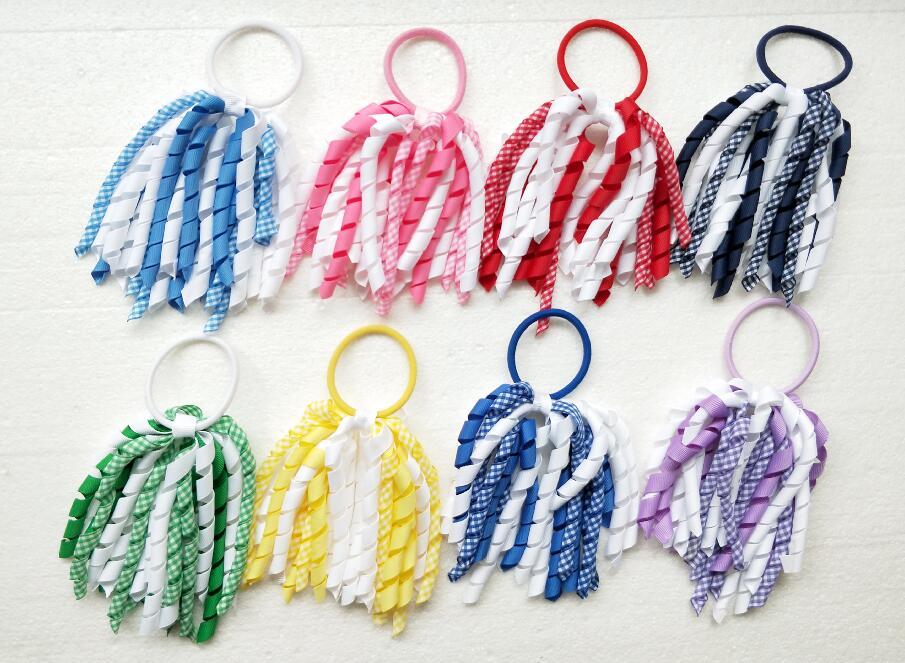 5x Christmas Hair Scrunchies Elastic Bobbles Hair Bands Tie Ponytail Holders