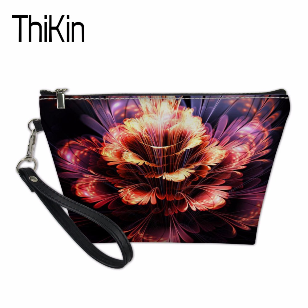 THIKIN Women Cosmetic Bags & Cases for Ladies Beauty Makeup Bag Vintage Floral Travel Organizers Bags Make Up Case Toiletry Bag